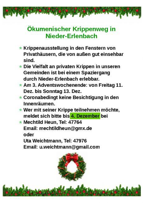 Plakat Krippenweg draw